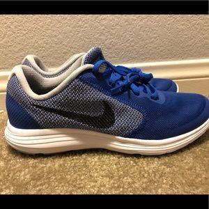 Nike Revolution 3 Game Royal Blue Grey Youth